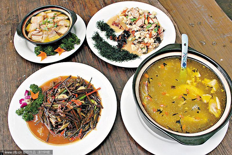 吃的都是传统徽菜