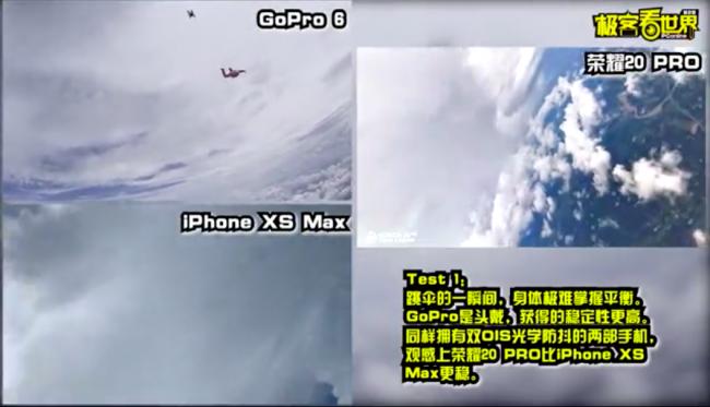 庆幸20 PRO和Go Pro万米空中捕捉顺风侠,仙人打架现实谁不抖?