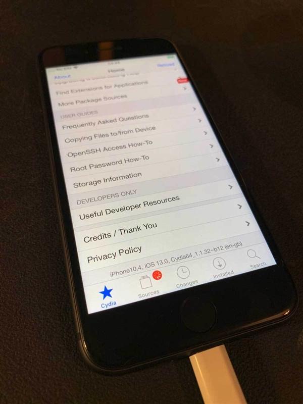 """蘋果iOS 13很""""弱雞""""嗎?被大神秒越獄!"""