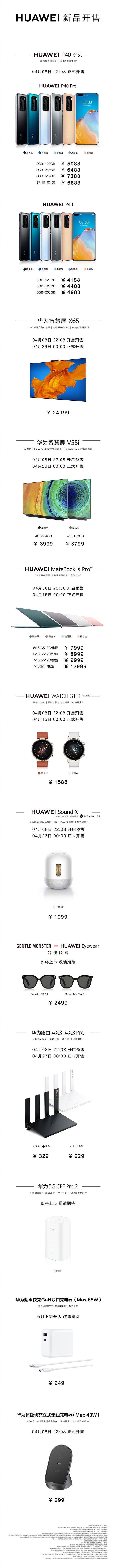 華為12大新品價格匯總:24999元智慧新高