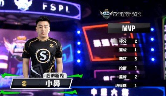 《街头篮球》FSPL首周最佳新秀出炉 Onestar小鼻荣膺