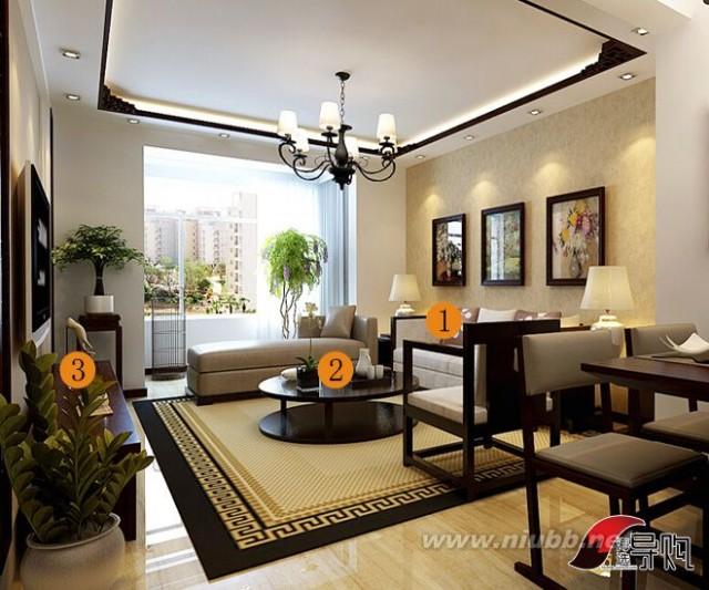 看案例选产品 13000元打造15平新中式客厅_平新