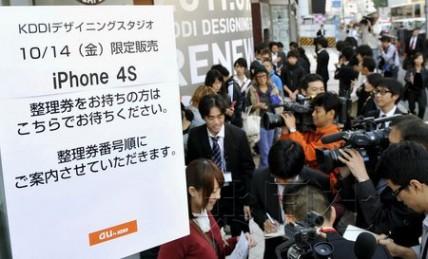 iPhone4S在日发售:KDDI加入销售战叫板软银