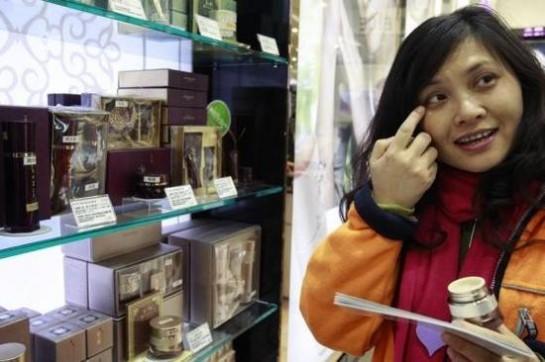 资料图:韩国化妆品受中国人青睐