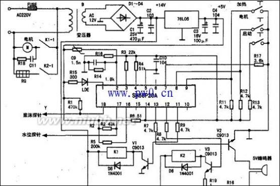 九阳豆浆机主板电路图 九阳豆浆机电路图