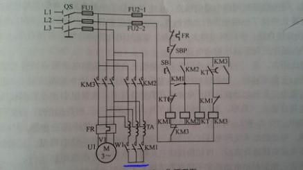 自耦降压启动原理 星三角,跟自耦减压启动原理图里面,交流接触器 km1