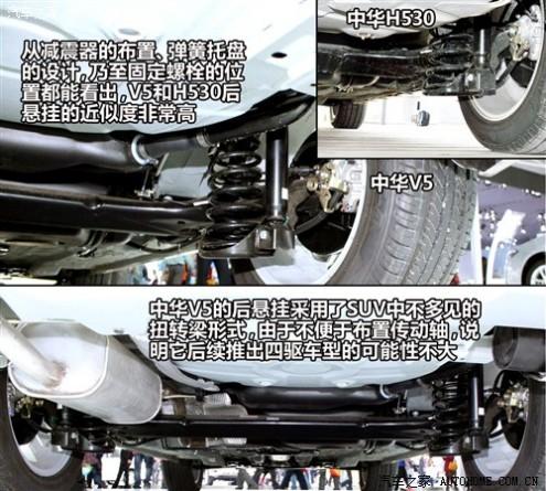 中华 华晨中华 中华V5 2012款 1.6自动尊贵型