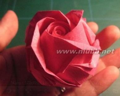 纸玫瑰花的折法之折纸玫瑰盒图解教程_纸折玫瑰花图解
