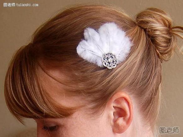 如何制作发夹 羽毛头饰可爱发夹 DIY制作方法图解