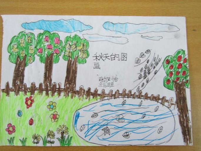 二年级秋天的图画 小学二年级画春天的图画