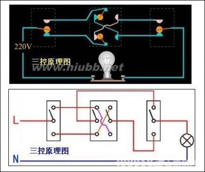 双控开关电路原理图解-双控开关怎么接,双控开关原理