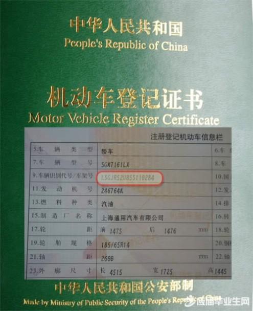 车辆识别代号查询 违章查询的识别代号是什么