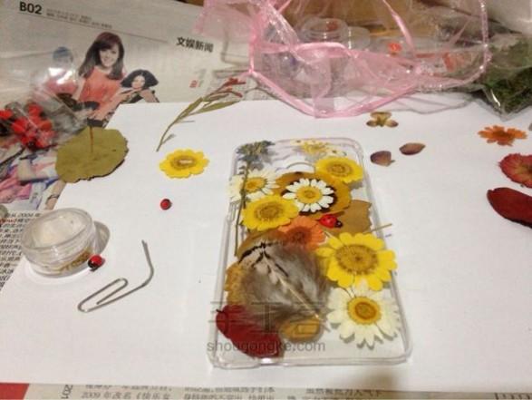 水晶滴胶教程 鲜花树叶手机壳DIY教程,在售商品小广告