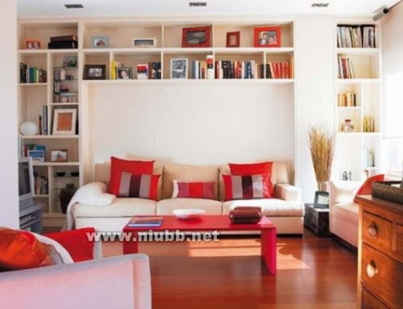 客厅隔断装修效果图-客厅书房一体客厅兼书房:客厅书房装修,书房在