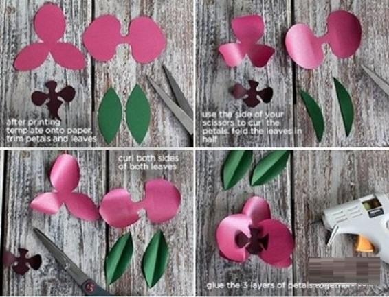 黑板报花边简单又漂亮-简单又漂亮的兰花的折法教程