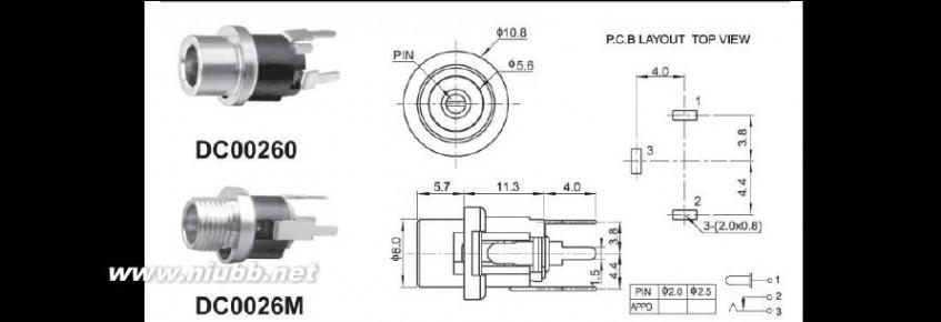 dc头 常用DC头座规格