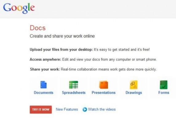 Google Docs是谷歌在企业市场的探索之一