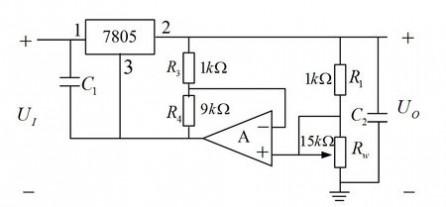 集成稳压电源 电子技术基础--模电:一道稳压器题,有图