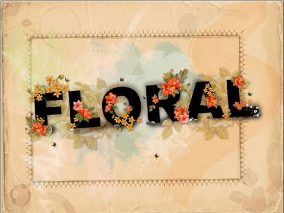 Floral Text Wallpaper