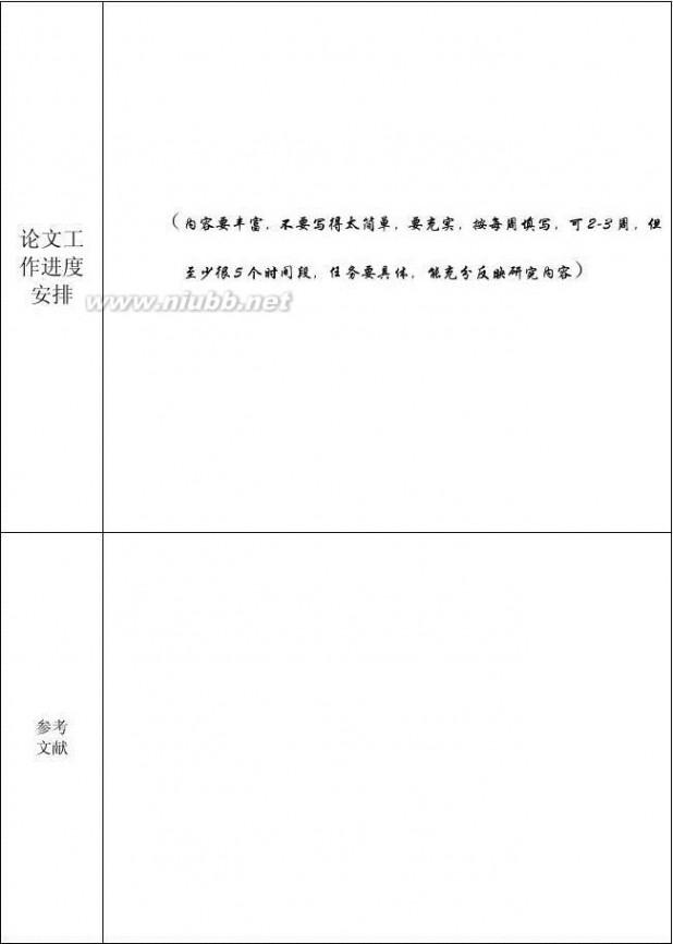 开题报告模板 开题报告格式及范文模板(最全面,最实用)