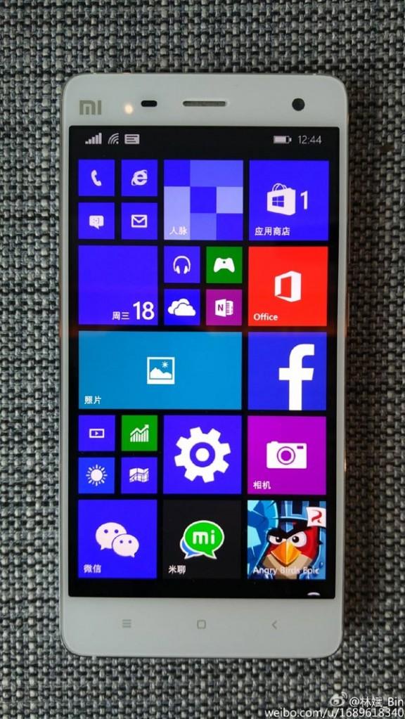 抢先看:小米4刷入Windows 10后是这样!