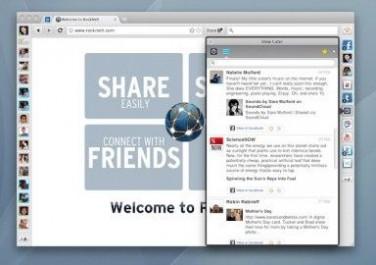 社交网络浏览器RockMelt