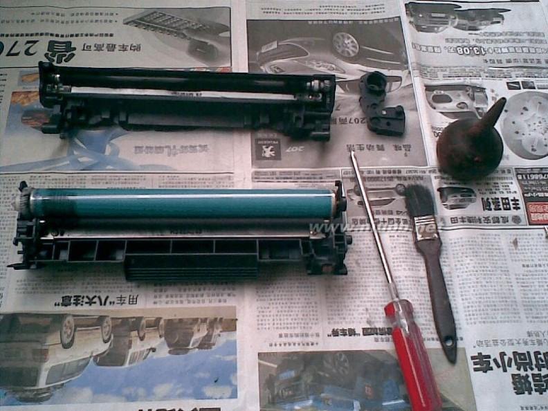hp1007硒鼓 HP1007激光打印机硒鼓加粉图解