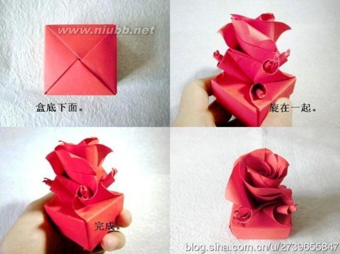 玫瑰花折纸教程图解-折纸花球的折法图解教程