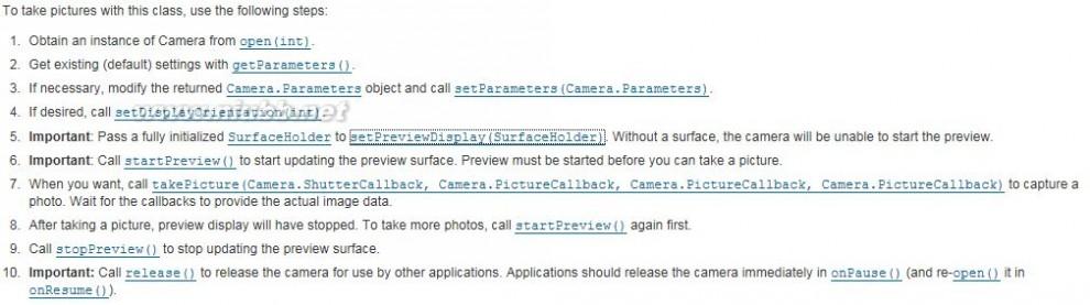 实时视频 【流媒體】Android 实时视频采集—Camera预览采集