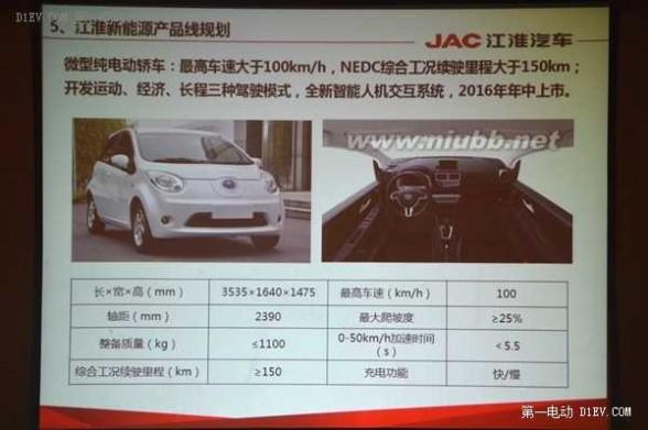 江淮汽车suv 江淮电动SUV和微型电动车明年将上市