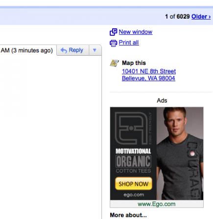 谷歌证实正在测试Gmail显示广告服务