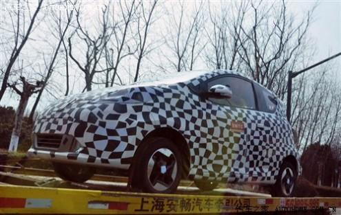 上汽首款纯电动车 荣威E50上海街头曝光 61阅读