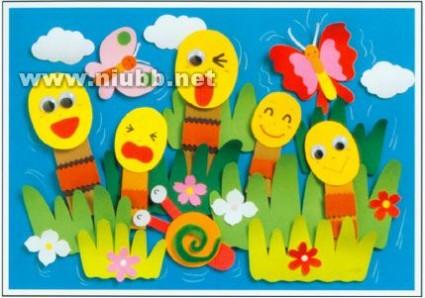 儿童卡纸手工制作图片-儿童手工用海绵纸制作孔雀
