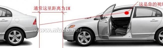 车头 看不到车头,如何判断与前车有多少距离