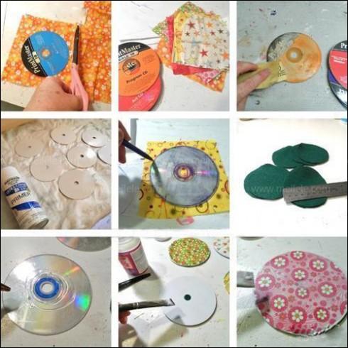 光盘的废物利用环保小制作