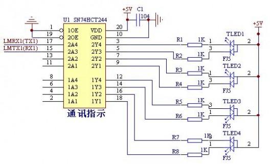 74ls244引脚图及功能 74ls244引脚图与管脚功能表资料