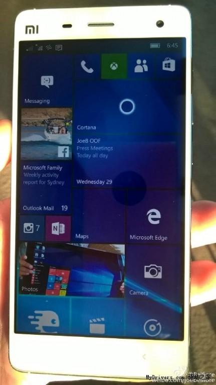 亮瞎!小米4刷上了Windows 10:很流畅