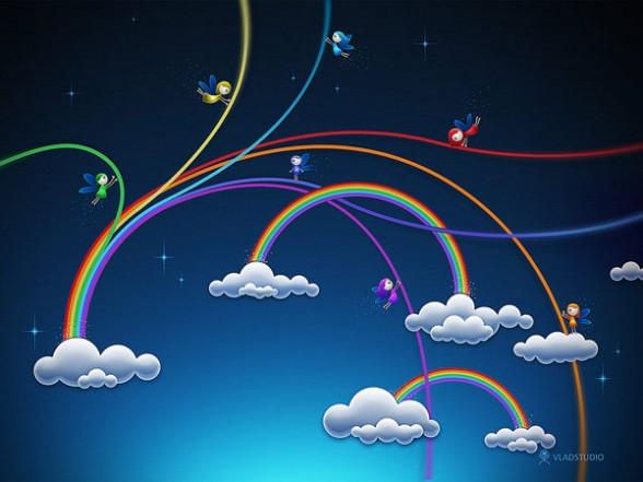 Animated Rainbow Wallpaper
