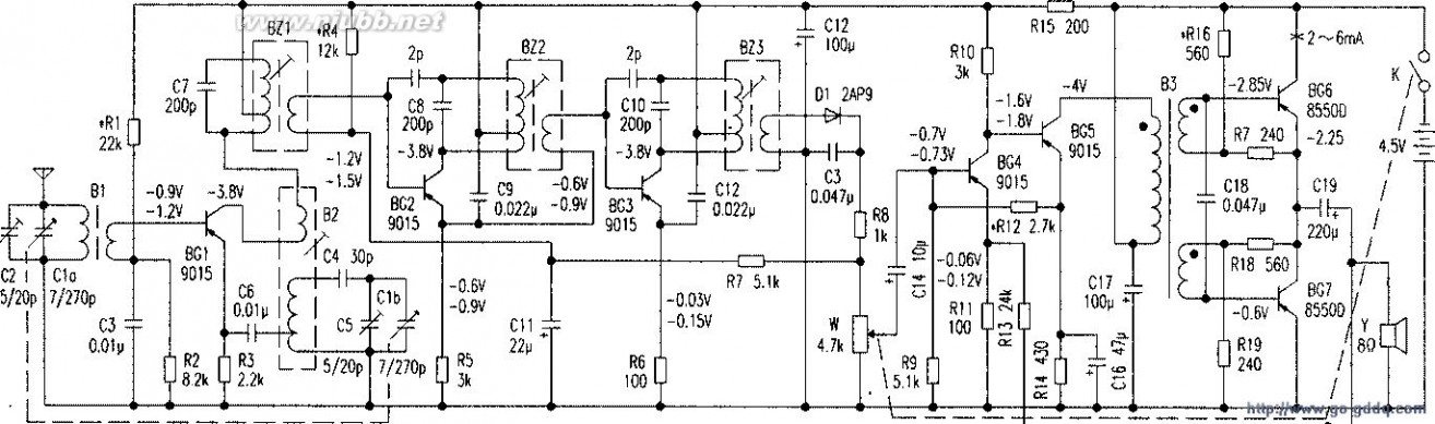 晶体管收音机 教你看懂741型晶体管收音机电路图