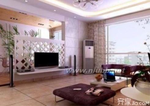 影视墙隔断效果图 4款客厅电视墙隔断装修效果图欣赏 小户型客厅装修