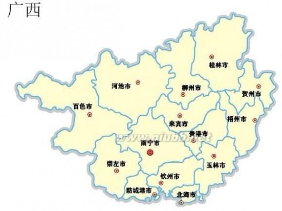 广西省地图 广西地图及行政区划
