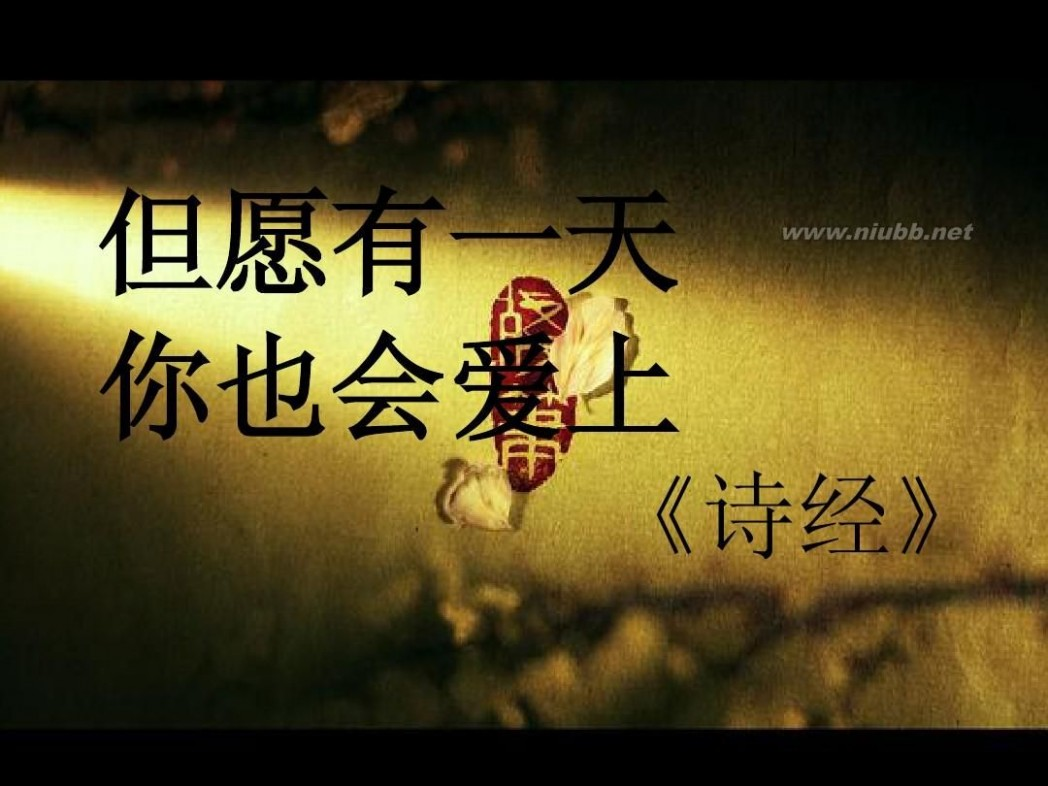 天若有情天亦老 月如无恨月长圆 最美不过诗三百(含中国最美情诗)