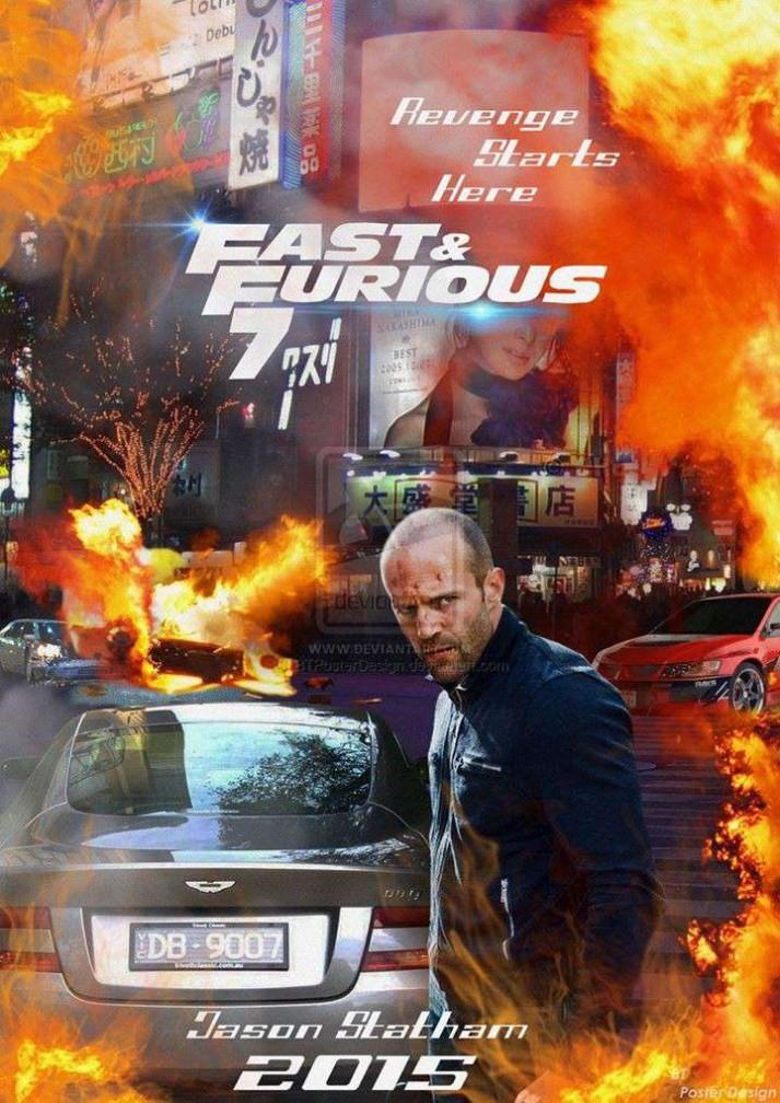 速度与激情7海报 《速度与激情7》高清海报抢先看